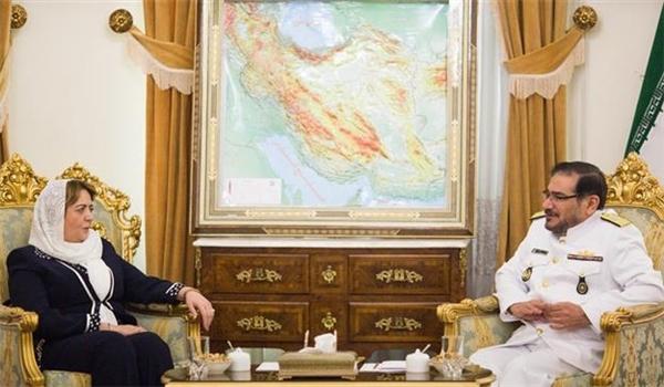 رئيسة مجلس الشعب السوري تلتقي شمخاني