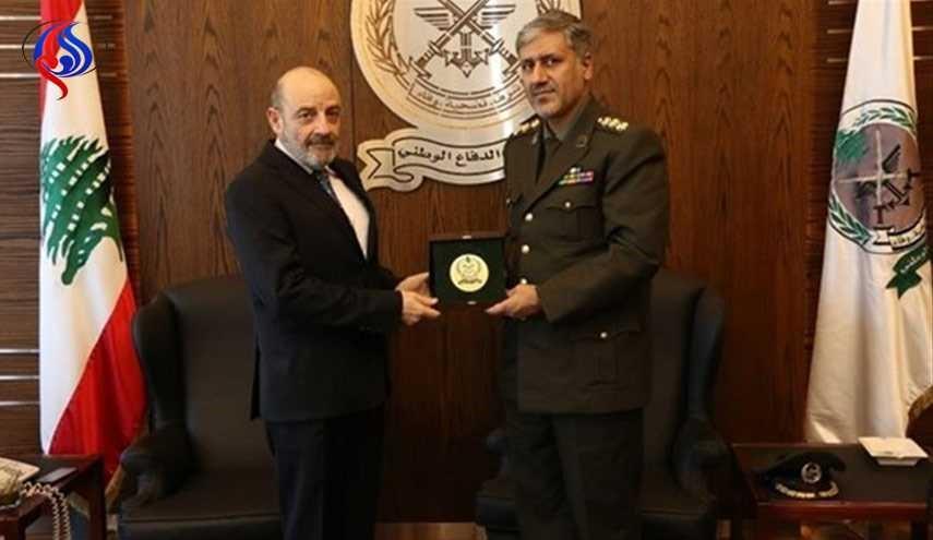 ايران ولبنان يبحثان سبل تنمية التعاون العسكري