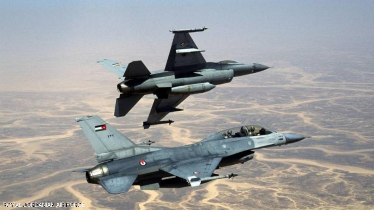 لأول مرة.. غارات أردنية على مواقع لداعش جنوبي سوريا