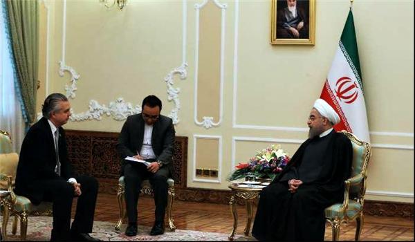 الرئيس روحاني يؤكد ضرورة تعزيز العلاقات المصرفية وتسهيلها بين ايران والبرازيل
