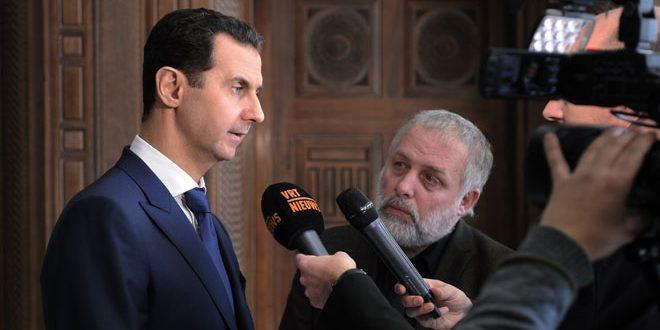 الأسد: التعاون بين روسيا والولايات المتحدة سيكون إيجابيا لباقي أنحاء العالم بما في ذلك سورية