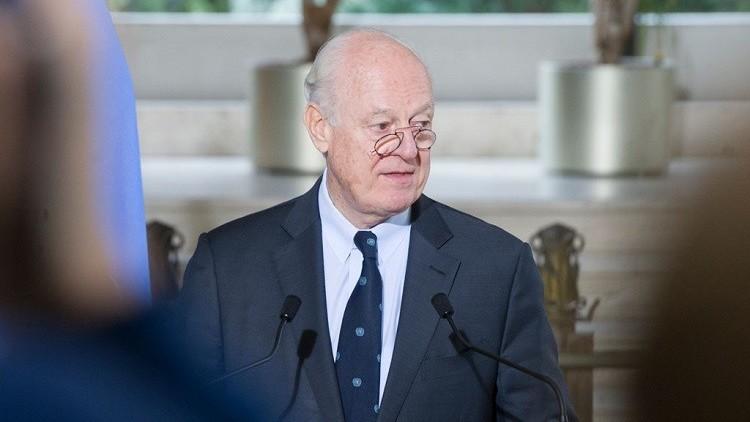 دي ميستورا يتوقع إرسال الدعوات قريبا للمحادثات السورية في جنيف