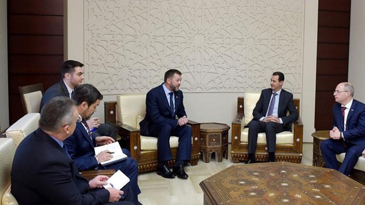 رئيس الوفد البرلماني الروسي: الأسد أكد استعداده لإجراء مفاوضات مباشرة مع المعارضة