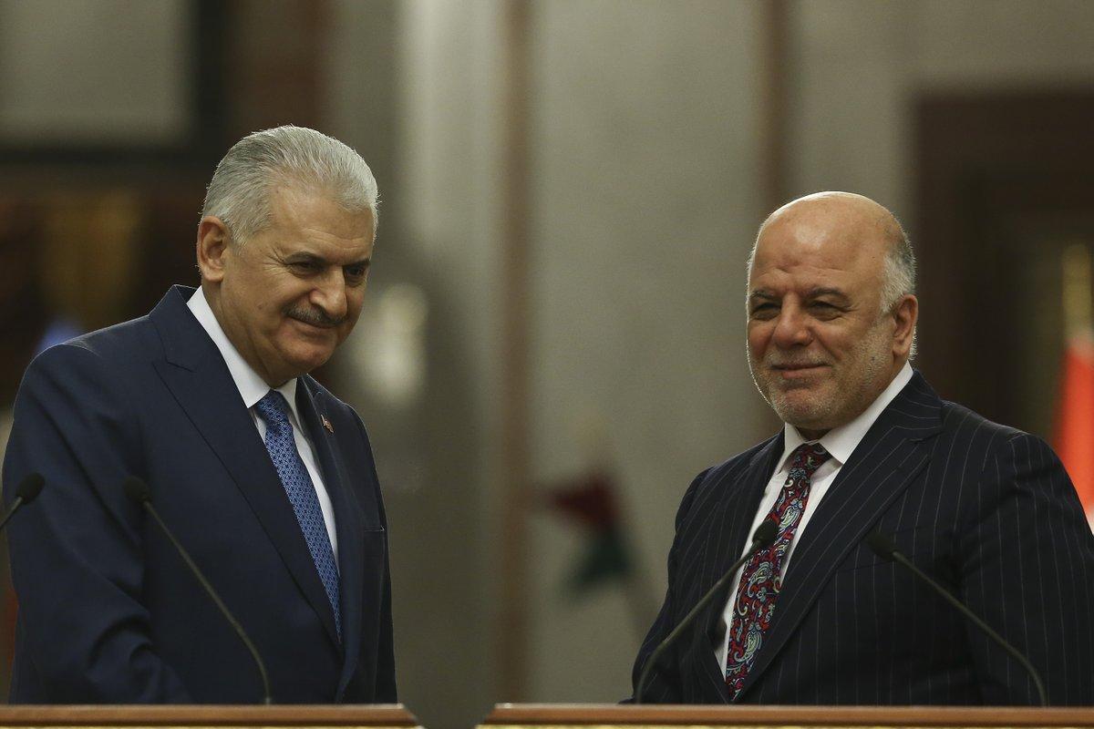 العبادي ليلدريم: يجب سحب كافة القوات التركية من العراق