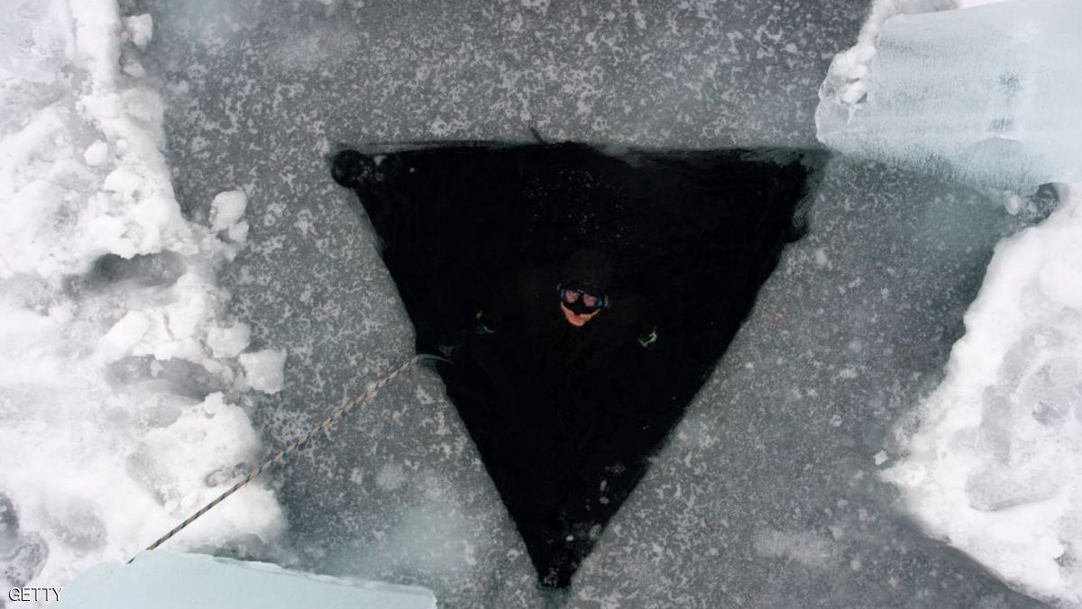 الغطس تحت الجليد