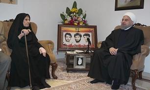 روحاني: سنجتاز جميع العقبات بفضل الله ودماء الشهداء وصمود الشعب