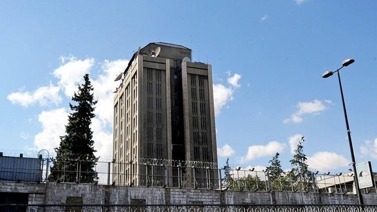 تعرض أحد مباني السفارة الروسية في دمشق لقصف المسلحين