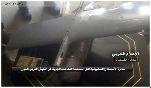 الجيش السوري يسقط طائرة استطلاع إسرائيلية فوق القنيطرة