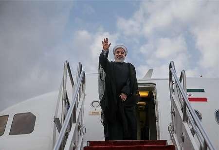 الرئيس روحاني يغادر طهران إلي روسيا