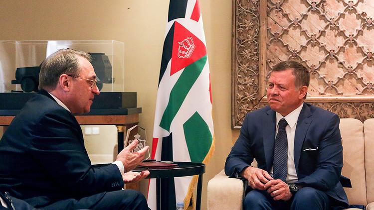عبد الله الثاني يستقبل بوغدانوف في عمان