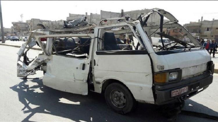 مقتل 5 أشخاص بتفجير حافلة صغيرة في حمص