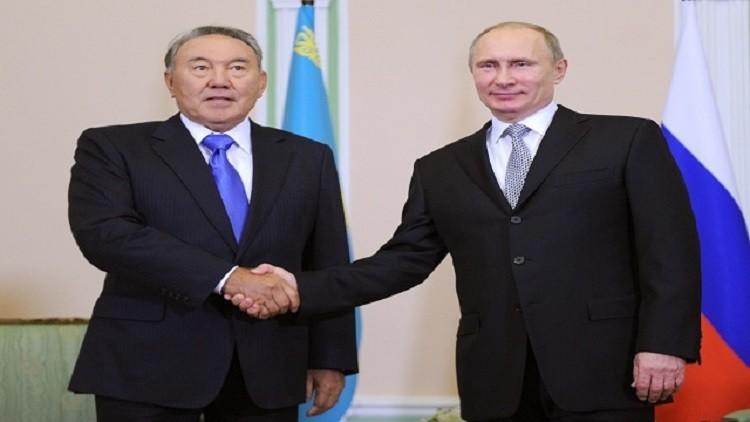 بوتين يبحث مع رئيس كازاخستان التسوية السورية