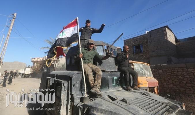 القوات العراقية تسيطر على جسر الحرية في أيمن الموصل