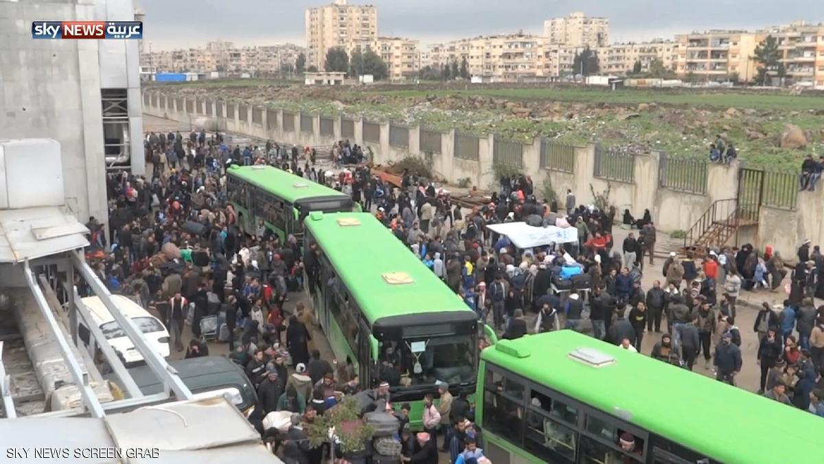 بدء تهجير دفعة ثالثة من حي الوعر بحمص