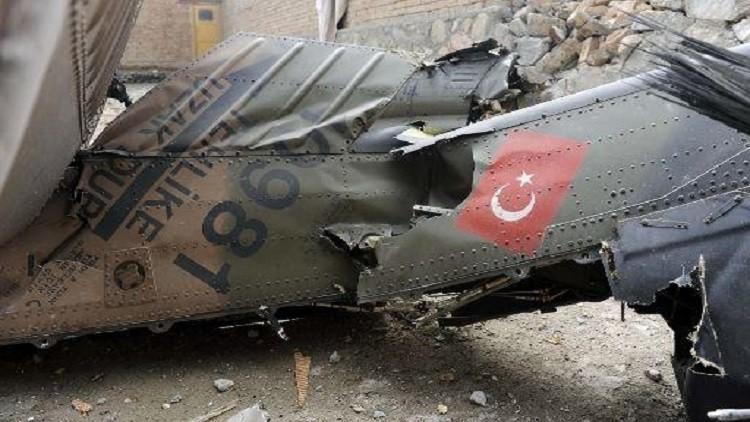 مقتل 12 شخصا في تحطم مروحية تابعة للشرطة شرق تركيا