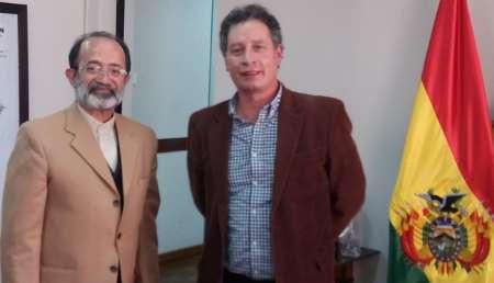 السفير الايراني يبحث مع وزير المناجم البوليفي تطوير العلاقات بين البلدين