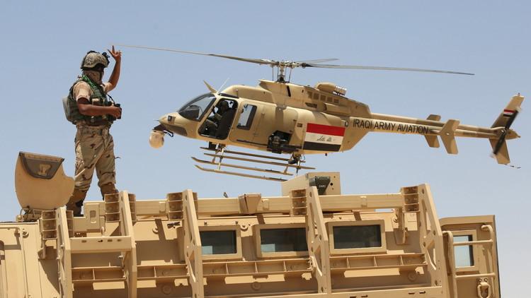 إصابة مروحية عراقية خلال إغارتها على
