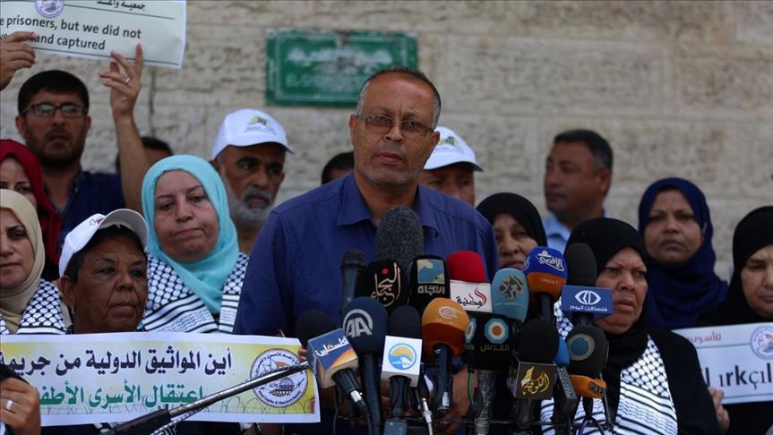 وقفة في غزة تضامناً مع المعتقلين المضربين عن الطعام