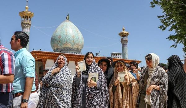 عدد الناخبين المشاركين بالانتخابات الايرانية يتجاوز 20 مليونا لحد الان