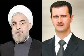 الرئيس الأسد يهنئ الرئيس روحاني بمناسبة إعادة انتخابه