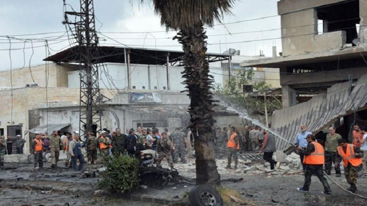 قتلى وجرحى بانفجار مفخختين في دمشق وحمص