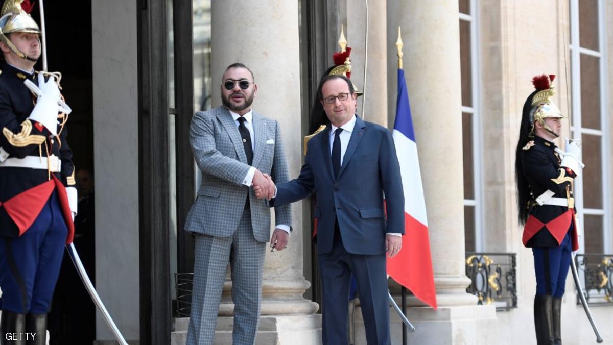 هولاند يبحث مع العاهل المغربي مكافحة الإرهاب