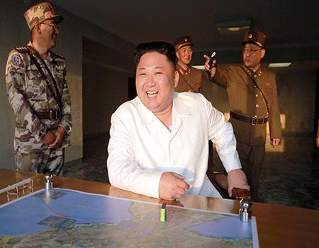 ننشر أول صور للصاروخ الباليستى الذى أطلقته كوريا الشمالية