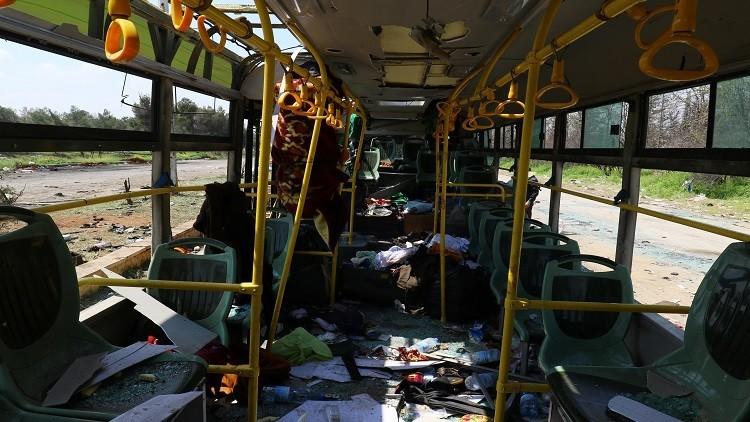 تفجير حافلة على طريق دمشق السويداء في سوريا