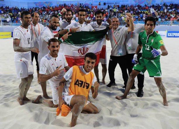 إيران تحصد المركز الثالث في كأس العالم للكرة الشاطئية