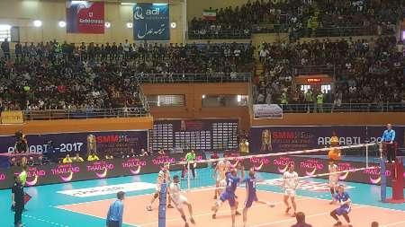 فريق الطائرة الايراني يتاهل الي الدور نصف النهائي في بطولة اسيا للشباب