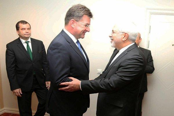 وزير الخارجية الايراني يلتقي نظيره السلوفاكي في اوسلو