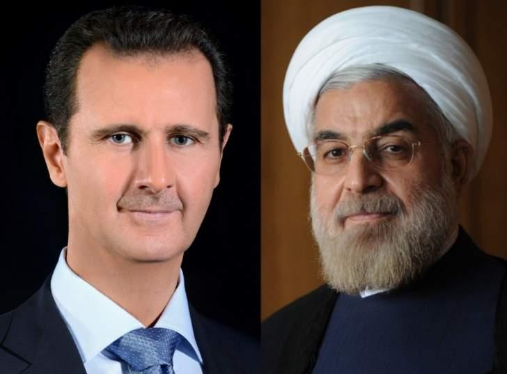 الأسد معزيا روحاني: ما حصل لن يؤثر على عزيمة وصمود الشعب الإيراني