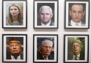 """افتتاح معرض صور """"مخيفة"""" لترامب وإدارته في نيويورك"""