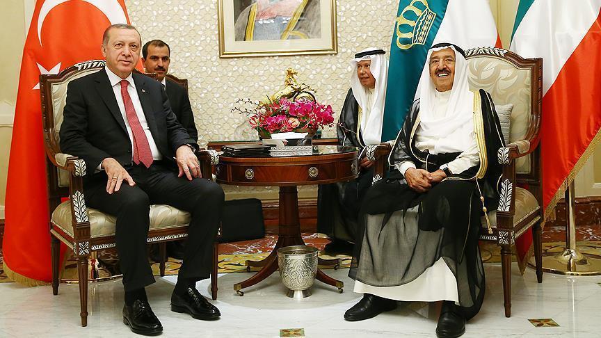 أردوغان وأمير الكويت