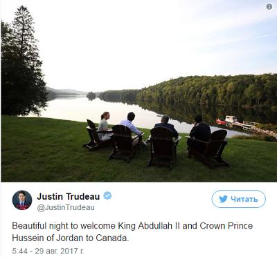 ترودو يستقبل العاهل الأردني بطريقة مميزة (صورة)