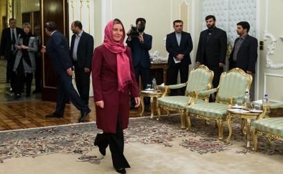 بالفيديو و الصور... موغيريني تصل طهران للمشاركة في مراسم تنصيب روحاني