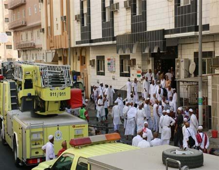 صور.. نجاة 391 حاجا من حريق في مكة المكرمة