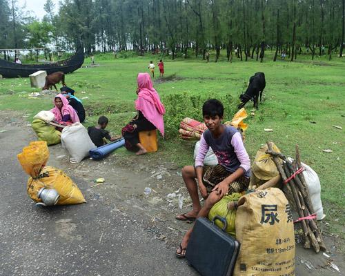 بالصور..الروهينجا يقيمون الخيام بمدينة تنغاف ببنجلاديش بعد هروبهم من ميانمار