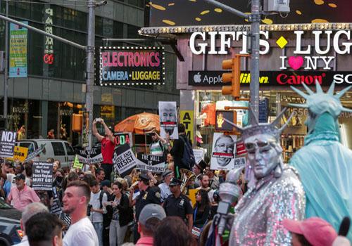 تظاهرات فى نيويورك تنديدا بالعنصرية و