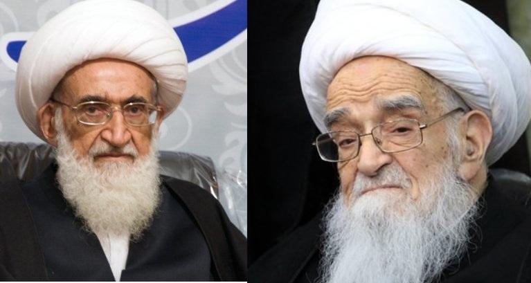 آية الله صافي كلبايكاني و نوري همداني يعزيان برحيل البحارة الايرانيين