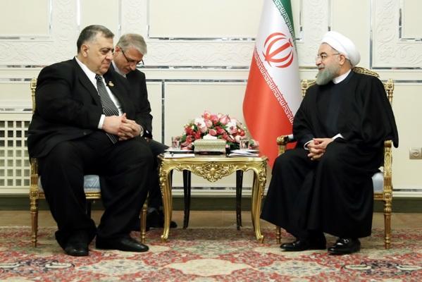 الرئيس روحاني :مبادرة أمریکیة مؤامرة ضد سیادة الأراضی السوریة والمنطقة