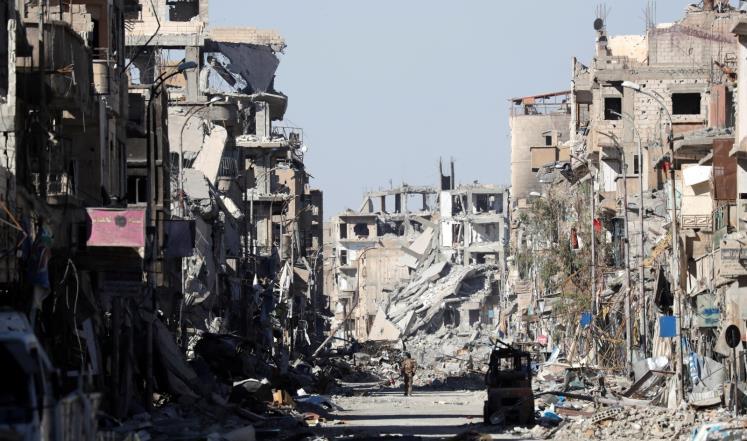 زیارة مدير المعونة الأميركية عن الرقة السورية