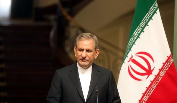 جهانغيري: امریكا تخطط لعرقلة التعاون بين ايران والبلدان الاخرى عبر الحظر