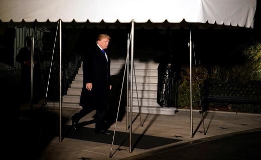 ترامب يغادر واشنطن متوجها إلى سويسرا للمشاركة فى المنتدى الاقتصادى