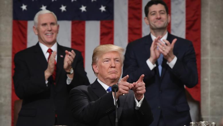 ماذا قال ترامب فی خطابه الأول أمام الکونغرس الأمریکي