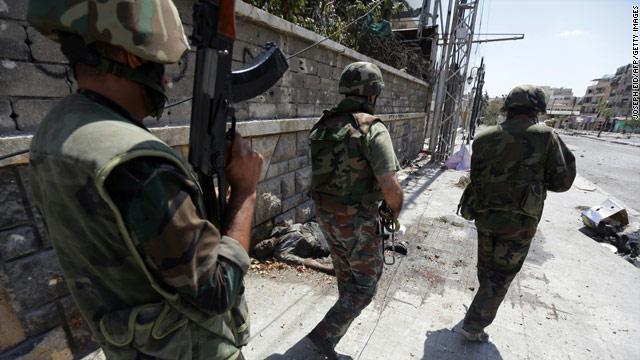 الجيش السورى يكسر الحصار على قاعدة عسكرية قرب دمشق