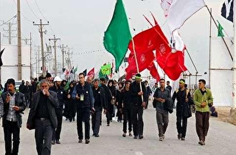 قافلة تضم 40 الف زائر من جنوب غرب ايران توجهت للمشاركة في الزيارة الاربعينية