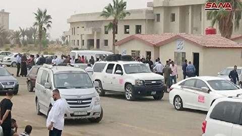 السيارات السورية العالقة في الأردن تدخل معبر نصيب الحدودي لتسوية أوضاعها
