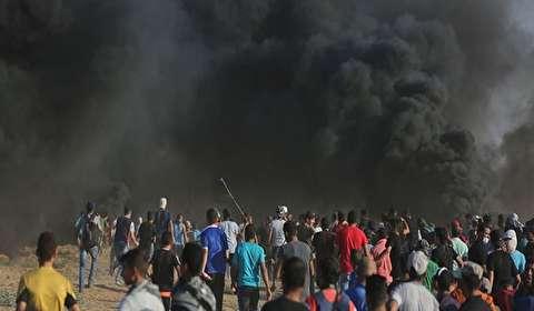 130 اصابة على حدود غزة واسرائيل تقصف خان يونس والبريج