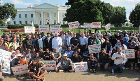 محتجون يطالبون ترامب بفرض عقوبات على السعودية